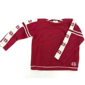 Hanna Andersson Red Holiday Christmas Sweater Knit